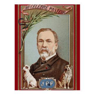 Carte Postale Le portrait célèbre de Louis Pasteur historique