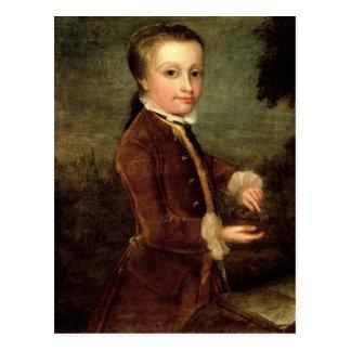 Carte Postale Le portrait de Wolfgang Amadeus Mozart a vieilli