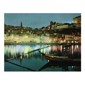 Carte Postale Le Portugal vintage, Porto, bateau de vin sur le