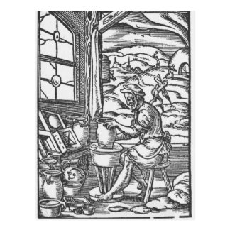 Carte Postale Le potier, 1574