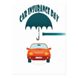 Carte Postale Le premier février - jour d'assurance auto