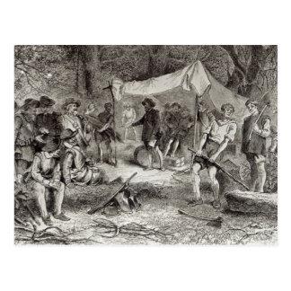 Carte Postale Le premier jour chez Jamestown