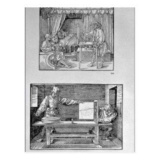 Carte Postale Le premier livre technique de l'artiste