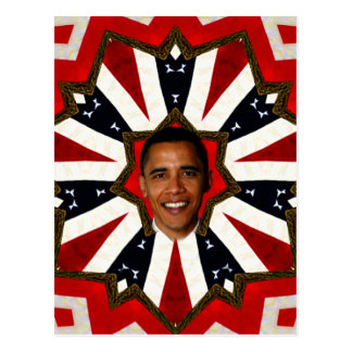 Carte Postale Le Président Barack Obama, USA_