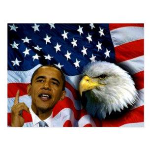 Carte Postale Le Président Barack Obama, visions et Dreams_