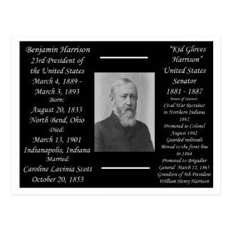 Carte Postale Le Président Benjamin Harrison