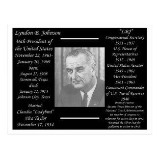 Carte Postale Le Président Lyndon Johnson