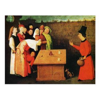 Carte Postale Le prestidigitateur par Hieronymus Bosch