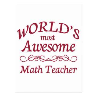 Carte Postale Le professeur de maths le plus impressionnant du