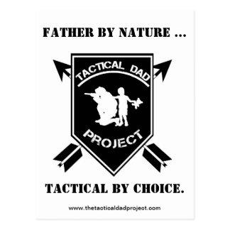 Carte Postale Le projet tactique de papa