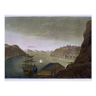 Carte Postale Le Québec et le St Lawrence River, plaquent 4 de