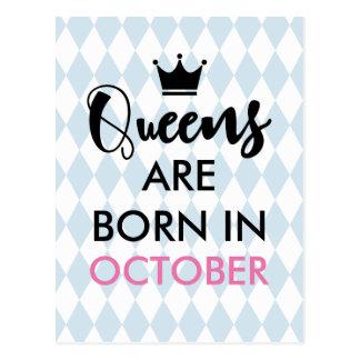 Carte Postale Le Queens sont né dedans - mois et couleur faits