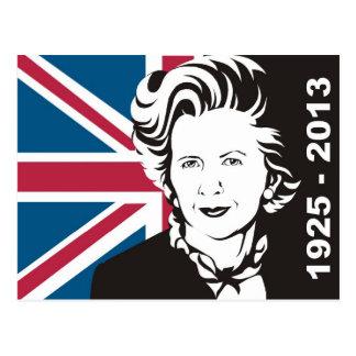 Carte Postale Le R-U pleure Margaret Thatcher, Dame du fer de