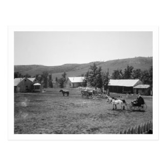 Carte Postale Le ranch de Haylie, le comté de Crook, Wyoming,