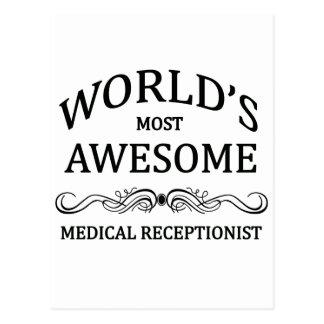 Carte Postale Le réceptionniste médical le plus impressionnant