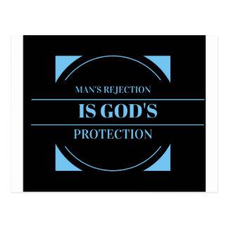 Carte Postale le rejet de l'homme est la protection de Dieu