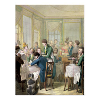 Carte Postale Le restaurant dans le Palais Royal, 1831