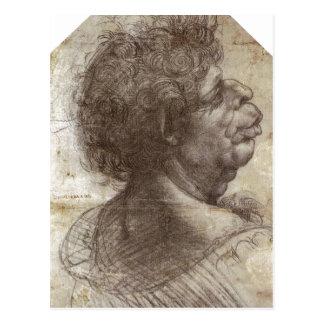Carte Postale Le résumé une tête grotesque (C. 1504 - 1507) est