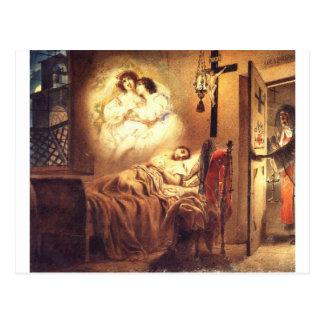 Carte Postale Le rêve de la nonne par Karl Bryullov