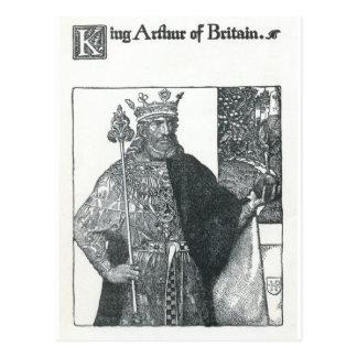 Carte Postale Le Roi Arthur de la Grande-Bretagne
