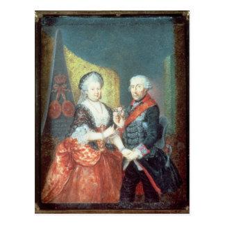 Carte Postale Le Roi Frederick II et son épouse