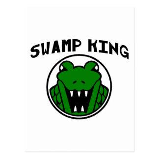 Carte Postale Le Roi Gator Symbol de marais