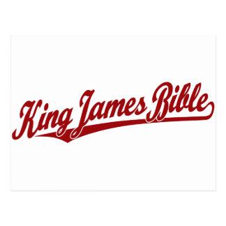Carte Postale Le Roi James Bible Script Logo en rouge