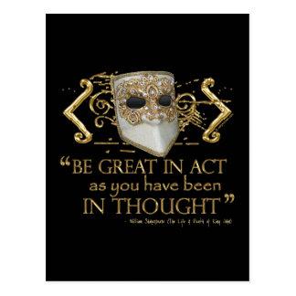 Carte Postale Le Roi John Quote (édition d'or)