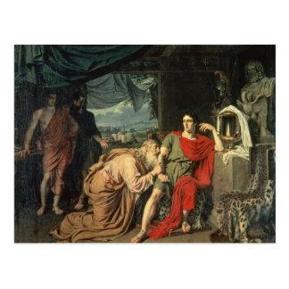 Carte Postale Le Roi Priam priant Achille pour le retour de