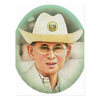 Carte Postale Le Roi thaïlandais Bhumibol Adulyadej -