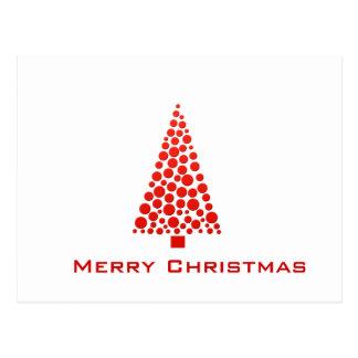 Carte Postale Le rouge pointille l'arbre de Noël