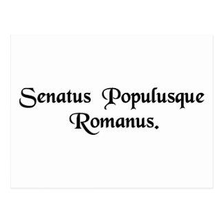 Carte Postale Le sénat et les personnes romaines