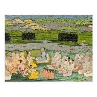 Carte Postale Le Shuku sage Deva s'adressant au Roi Parikshit et