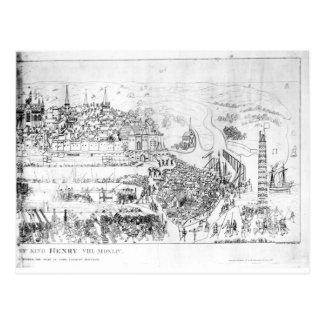 Carte Postale Le siège de Boulogne par le Roi Henry VIII