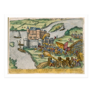Carte Postale Le siège de Louvain et le héroisme de Harman Reu