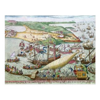 Carte Postale Le siège de Tunis ou de La Goulette par Charles V
