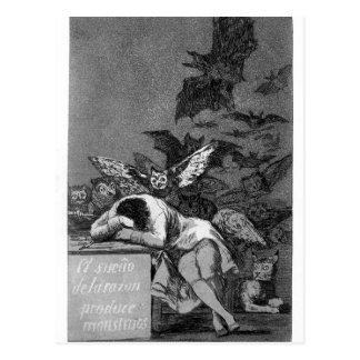 Carte Postale Le sommeil de Francisco Goya- de la raison produit