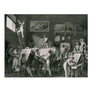 Carte Postale Le studio de Jacques Louis David