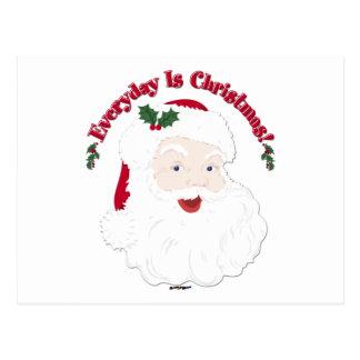 Carte Postale Le style vintage Père Noël quotidien est Noël !