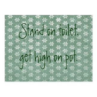 cartes postales humour de toilette personnalis es. Black Bedroom Furniture Sets. Home Design Ideas