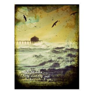 """Carte Postale Le surf """"de mers agitées"""" a inspiré le collage"""
