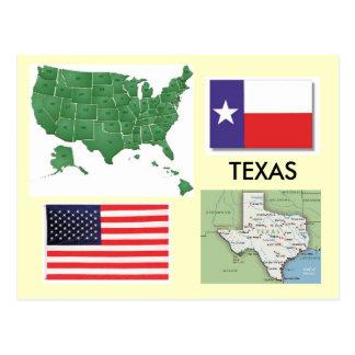 Carte Postale Le Texas, Etats-Unis