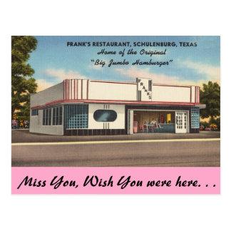 Carte Postale Le Texas, le restaurant de Frank, Schulenburg