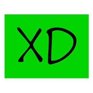 Carte Postale Le texte de XD font dans le genre tragique le