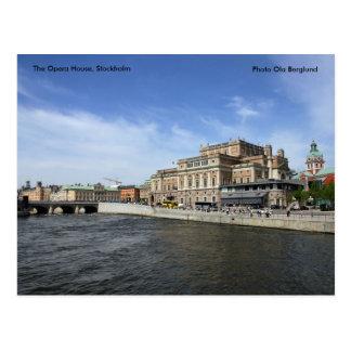 Carte Postale Le théatre de l'opéra, Stockholm, Phot…