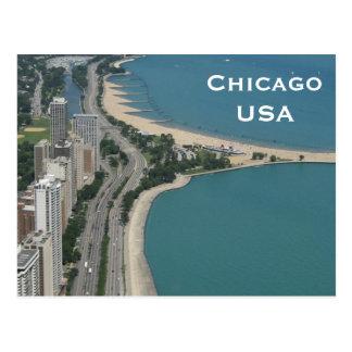 Carte Postale Le tourisme vintage de voyage de Chicago,