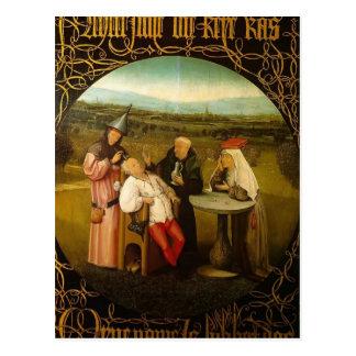 Carte Postale Le traitement de la folie par Hieronymus Bosch