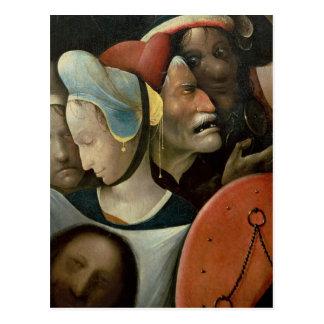 Carte Postale Le transport de la croix montrant trois visages
