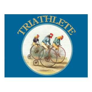 Carte Postale Le triathlon des poulets