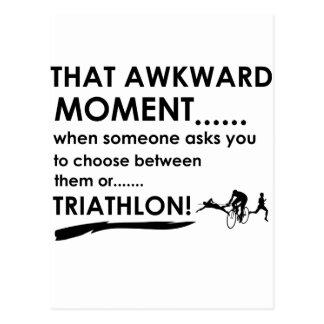 Carte Postale Le triathlon folâtre des conceptions